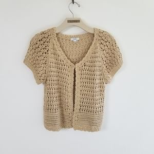 Cache Tan with Gold Thread Sweater